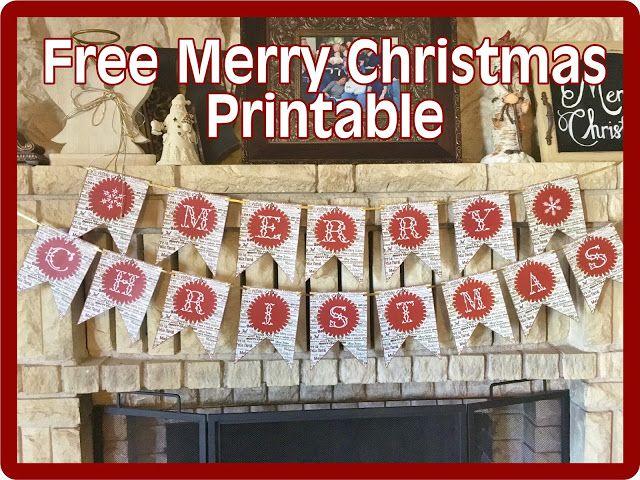 """Free """"Merry Christmas"""" banner printable"""