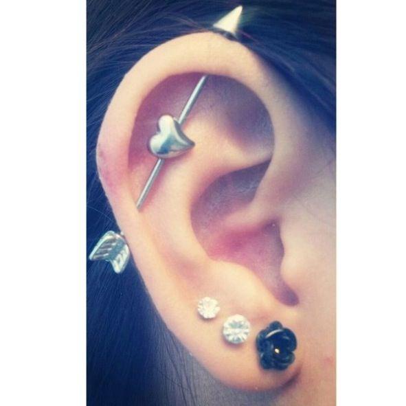 Heart Arrow Piercing