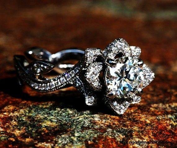 flower rose lotus engagement ring my engagement ring - Lotus Wedding Ring