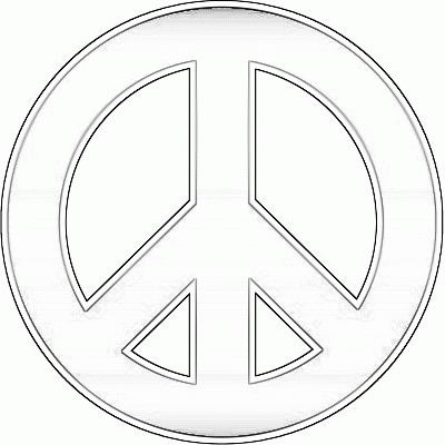 peace sign coloring sheets for kids   Peace Sign Coloring Pages For Kids. Print and Color the Pictures