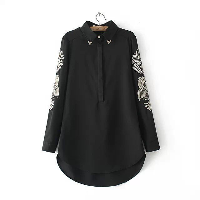 Aliexpress.com : Buy New Design Women Long Blouse Long Sleeve Loose Shirt Front Short Back Long Blouse Elegant Embroidery Shirt Casual Tops EF104 from Reliable Blouses & Shirts suppliers on Friends of the Shanghai International Trade Co. Creek | Alibaba Group