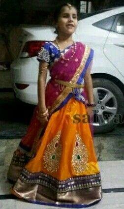 Girl in HAlf Saree....