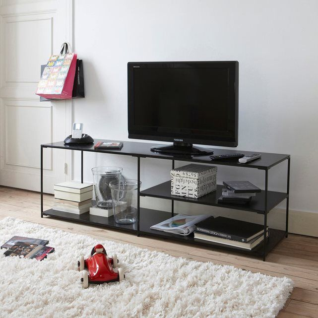 128 best salons images on pinterest belle black metal and black smoke - Ampm meuble tv ...