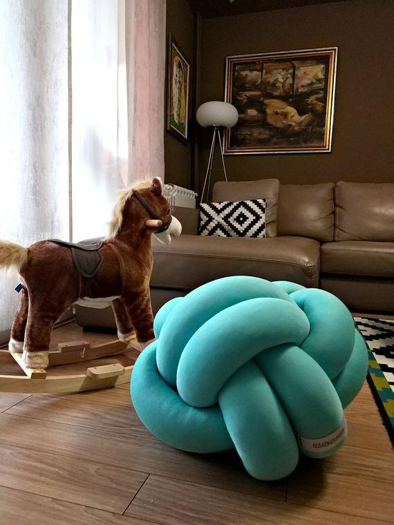 Jumbo Floor Cushion 50x50cm Big35x35cm Medium 25x25cm And Mini 12x12cm Knot Cushion Fishbone 50x20cm And Wreath Pillow 20cm In 2020 Floor Cushions Knot Cushion Cushions