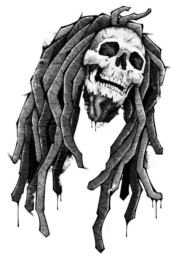 Recent Works, Bob Marley by Andreas Preis, via Behance