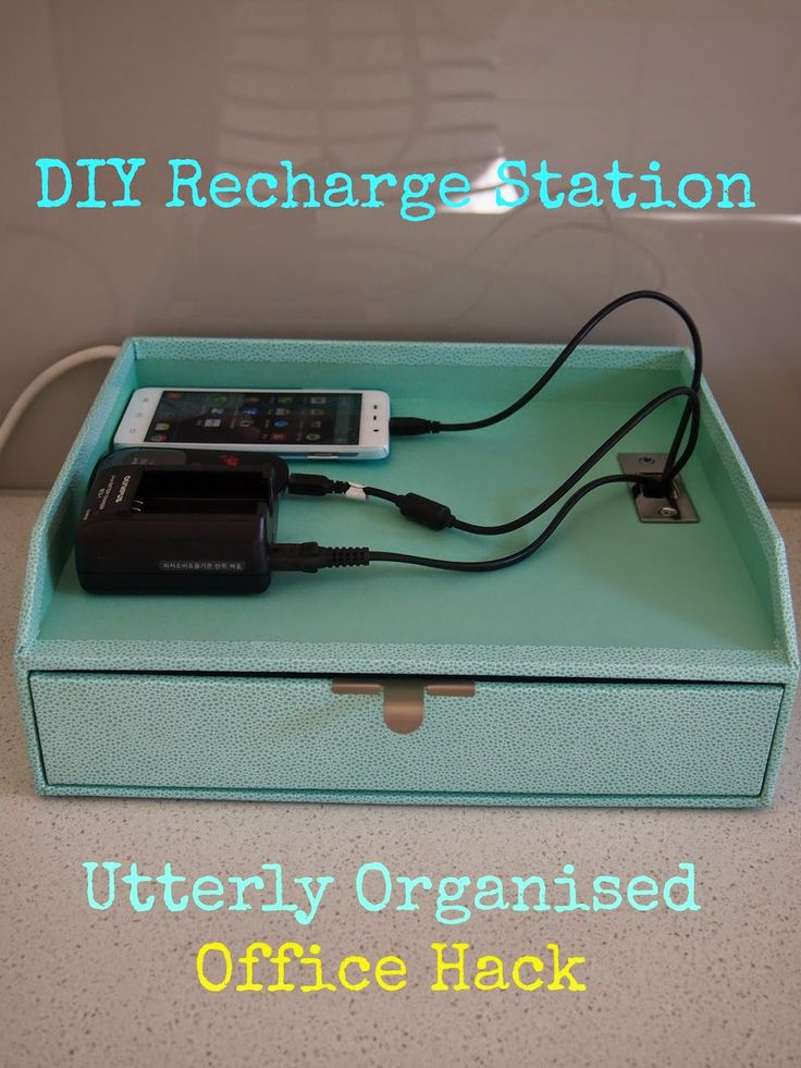 Clever Office Hacks: The Cheap DIY Recharge Station using Martha Stewart Range at Officeworks