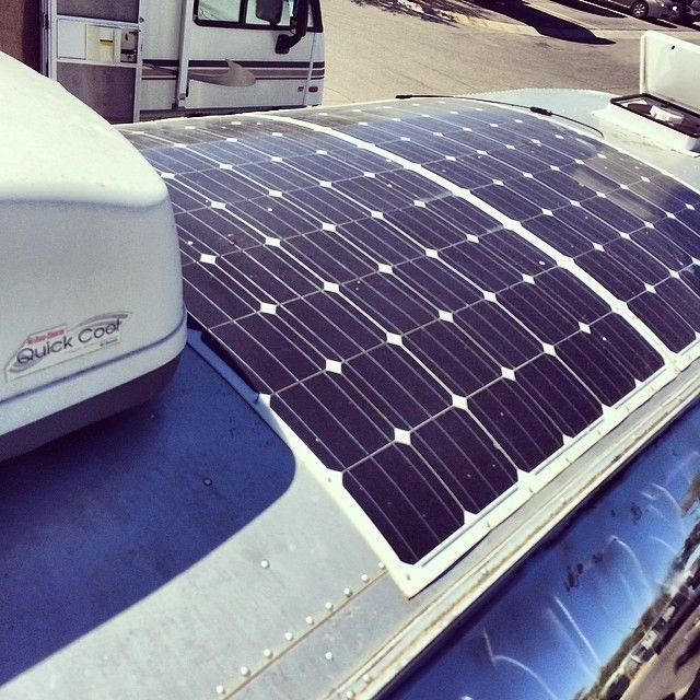 Here's a shot of my flexible solar pAnels from HighFlexSolar.com. 1000+ watts…