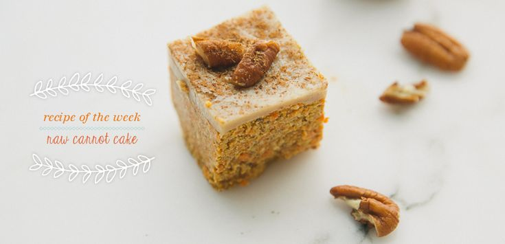 Raw Carrot Cake = carrot, almonds, pecans, medjool dates, desiccated coconut, oats, cinnamon, nutmeg, cardamon, water.  For cashew icing = cashews, vanilla extract, honey, wate.