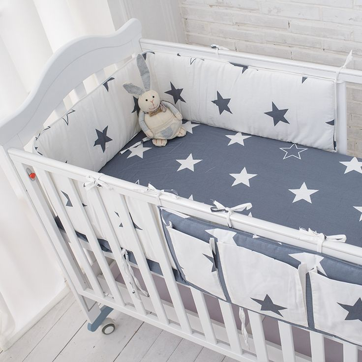 Muslinlife stern bedding set, multifunktionale baby sicher schlafen kinderbett stoßstangen set