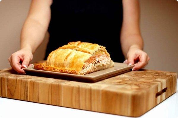 Empanada de salmón Noruego