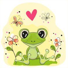 Cartoon Frog vector art illustration