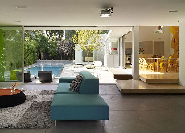 interior Norwich Drive Residence Clive Wilkinson Architects West Hollywood Home Inspiring Relaxation and Good Vibes Throughout