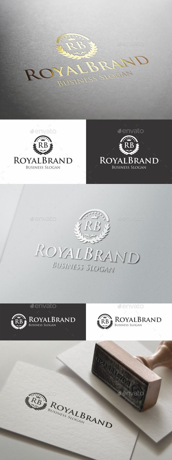 """Royal Brand Fashion Boutique Logo - Luxury Royal Boutique Elegant Logo – This Premium, Classy and Elegant Logo is ideal for Elite brands like Real Estate, Beauty Salon, Hotel and Resort, Law Firm, Business People Team Logo, Business Group, Consulting, Photographers, Casino, Restaurant, Spa, classy invitations, weddings, formal proposals, luxury industry like jewellery / jewelry, wine, fashion clothes, perfumes, any startups projects, ( you can change letters """"RB"""" in any letters, as you like…"""