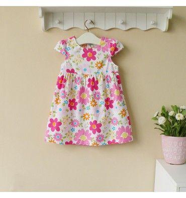 Mom and Bab Woven Dress - Pink Flowers - sadinashop.com  Dress atau gaun cantik untuk bayi dan anak perempuan.