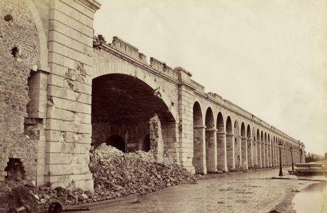Le viaduc d'Auteuil. Destruction lors de la Commune de 1871.