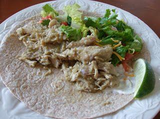 Tomatillo Chicken Filling for Tacos