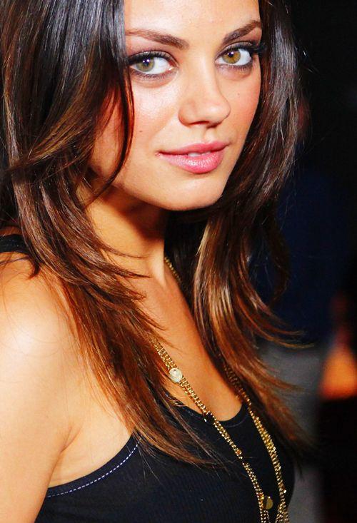 Mila Kunis hair layers