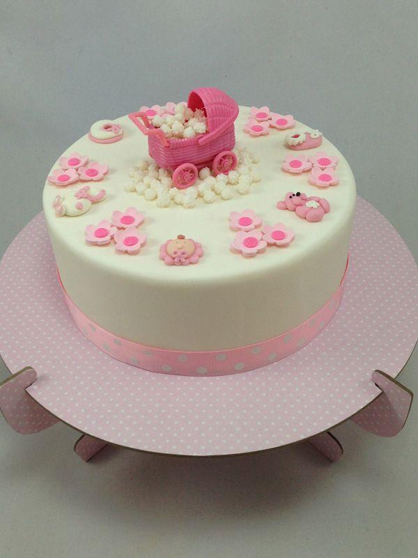 Pink Baby Pram Cake Kit. Click here http://www.icingonthecakekits.com/item_163/Pink-Baby-Pram-Cake-Kit.htm $69.95