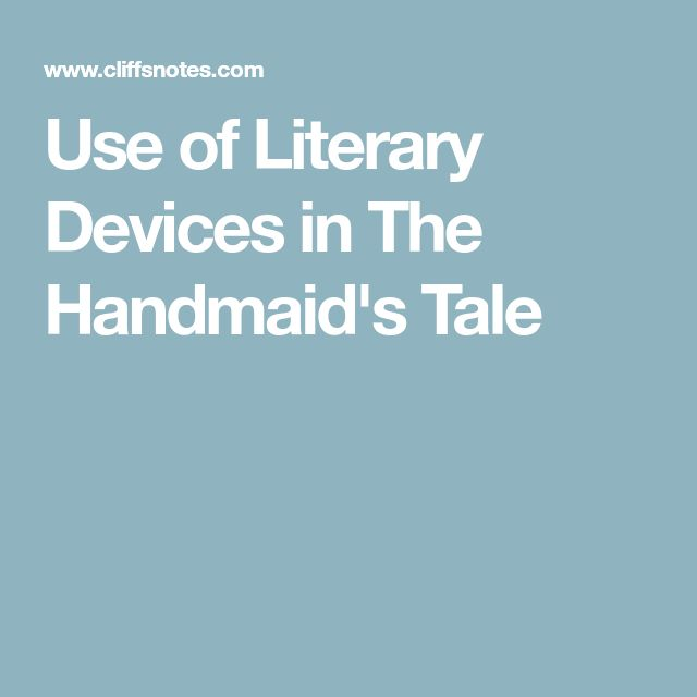 literary devices in the handmaids tale