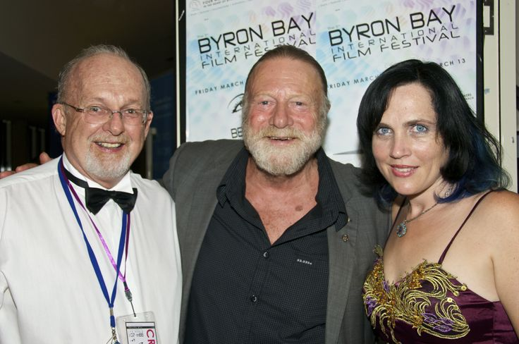 Festival Director J'aimee Skippon-Volke with Greg Aitken and Jack Thompson at #BBFF 2011 #byronbay #byron