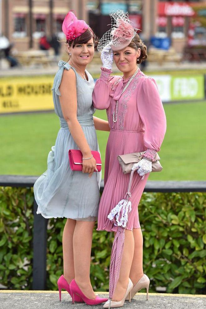 Style stakes are high as ladies shine bright on day two of the Punchestown Festival - EVOKE.ie - Emer McCabe and Maria Byrne were happy to show off their vintage look