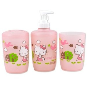 Hello Kitty 3 Piece Bathroom Set   Bath & Body + Decor   Pinterest
