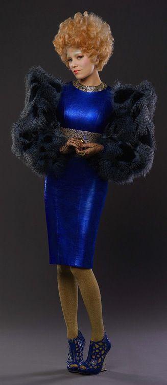 Elizabeth Banks as Effie Trinket in 'Hunger Games: Catching Fire' (2013). Costume Designer: Trish Summerville