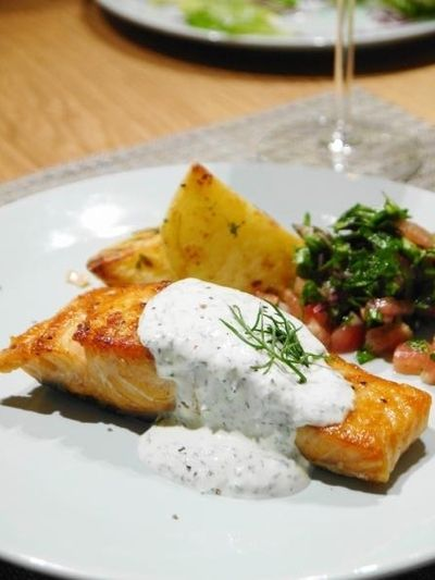 ロンドンより、ブログ再開しました☆ 3日目の夕ご飯から『鮭のムニエル ...