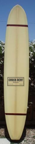 Circa 1968 Chuck Dent. $950. Visit Cal Street Surf's vintage surfboards for sale link: http://jacksj.wix.com/calstreetsurf