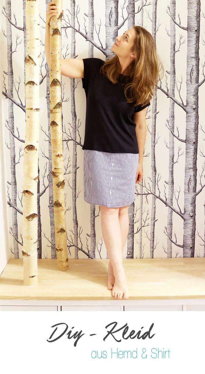 Dani von Gingered Things zeigt dir wie du aus einem alten Shirt und einem Hemd ein tolle neues Kleid nähen kannst.