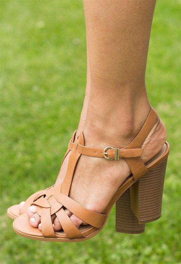 Chunky T-Strap Heel
