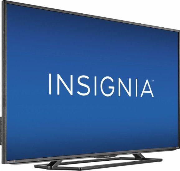 "Insignia™ - 55"" Class (54.5"" Diag.) - LED - 2160p - Smart - 4K Ultra HD TV - Roku TV - Black - AlternateView17 Zoom"