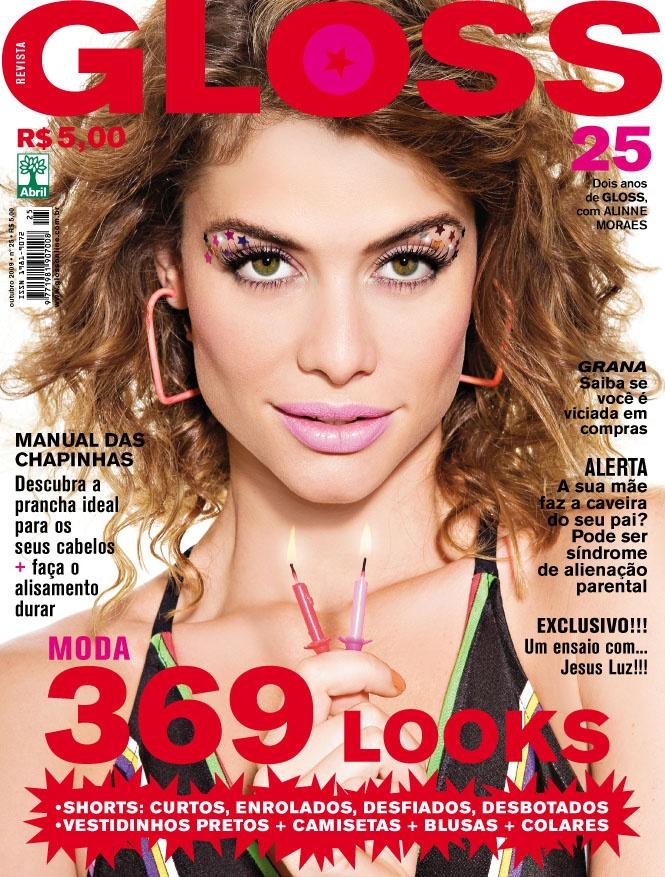 Revista Gloss - Edição Número 25 - Alinne Moraes- Out/09