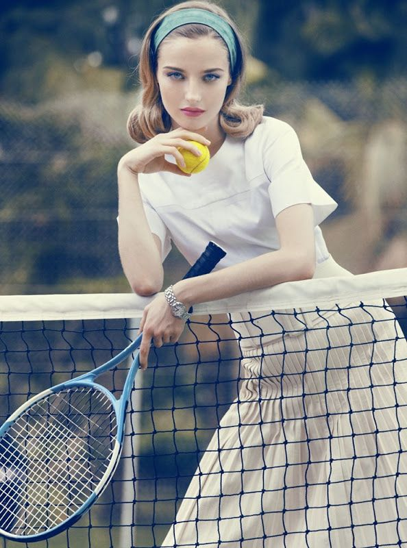 The vintage look of this makes this photo work. Finally, a decent tennis photo for a senior.