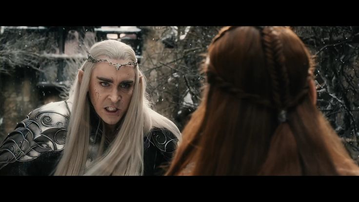 Hobbit: Battle of Five Armies Thranduil and Tauriel
