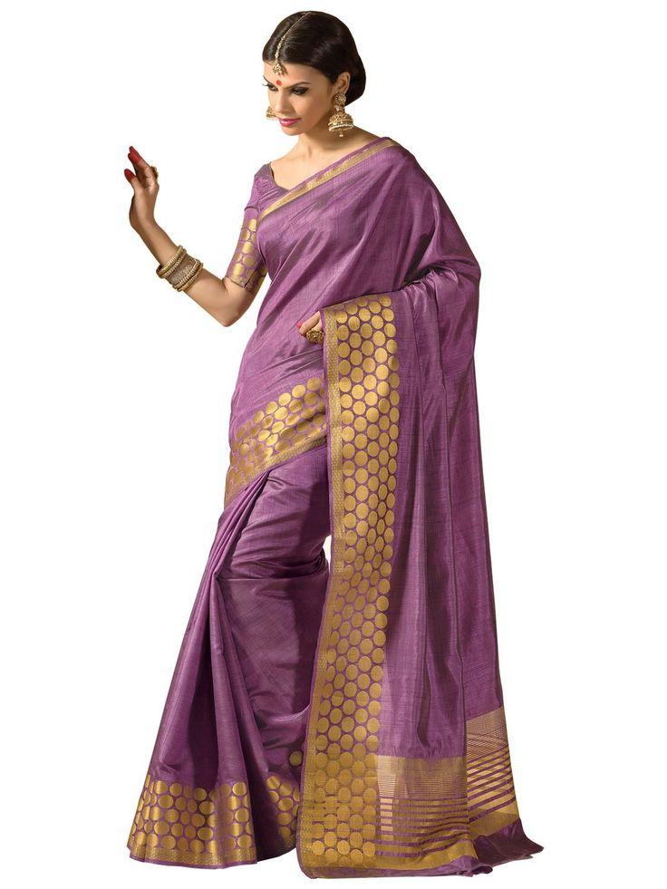 Taanshi Women Tussar Silk Saree With Blouse Pcs [T613, Purpleish]: Amazon : Clothing & Accessories  http://www.amazon.in/gp/product/B015ZFKBQM/ref=as_li_tl?ie=UTF8&camp=3626&creative=24822&creativeASIN=B015ZFKBQM&linkCode=as2&tag=onlishopind05-21  #TussarSilkSarees