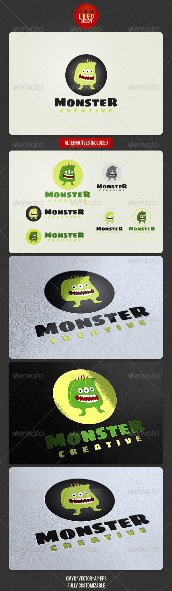 Funny Monster Logo  #GraphicRiver         Funnyn and creative vector logo template for your project.  	 CMYK , Adobe Illustrator AI file, EPS file, transparent PNG file.  	 Free font: Ubuntu –  .fontsquirrel /fonts/sigmar  	 Enjoy      Created: 19November12 GraphicsFilesIncluded: TransparentPNG #VectorEPS #AIIllustrator Layered: Yes MinimumAdobeCSVersion: CS Resolution: Resizable Tags: brand #branding #cartoonlogo #coollogo #corporate #creative #creativelogo #design #designer #funnylogo…
