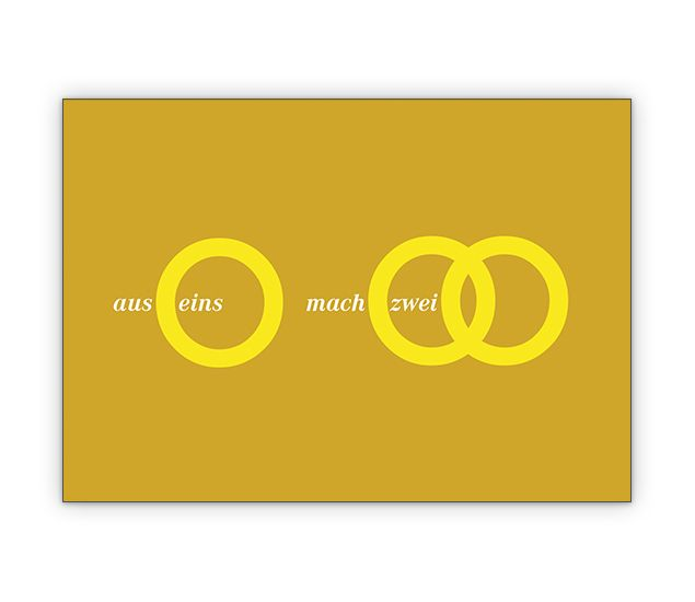 aus eins mach zwei - Tolle Designer Hochzeitsanzeige / Hochzeits Glückwunsch für Brautpaare - http://www.1agrusskarten.de/shop/aus-eins-mach-zwei-tolle-designer-hochzeitsanzeige-hochzeits-gluckwunsch-fur-brautpaare/    00024_0_2884, Anzeige, Anzeigenkarten, Brautpaar, Einladung, Einladungskarte, Grusskarte, Hochzeit, Klappkarte00024_0_2884, Anzeige, Anzeigenkarten, Brautpaar, Einladung, Einladungskarte, Grusskarte, Hochzeit, Klappkarte
