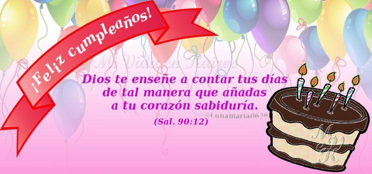 Salmos 90 12 (opción para mujer) #Cumpleaños #Biblia #Versículos Cumpleaños Cake Pops y Cake