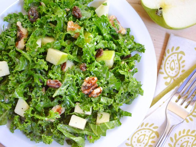 Apple Dijon Kale salad - healthy in every way.