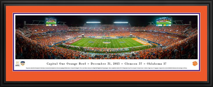 This 2015 Orange Bowl Panoramic Picture - Sun Life Stadium Poster was taken by Blakeway Worldwide Panoramas and is available in many different formats!