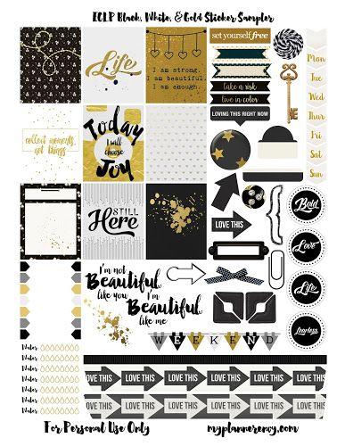 FREE Black, White, & Gold Sampler | My Planner Envy
