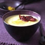 Velouté de céleri, pommes et curry - une recette Soupe - Cuisine