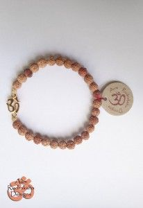 Rudraksha Bracelet with Gold Aum  #aum #rudraksha #beads #bracelet #jewellery #bali