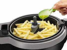 T-fal ActiFry Low Fat Multi-Cooker:  As mentioned as one of Oprahs favorite things, this unique multi cooker needs only one spoonful of oil to make two pounds of tasty, homemade French fries using a continual motion stirring paddle. You can use whichever type of oil you prefer to vary the taste and diversify your diet. The fryer can also be used to cook a wide range of other recipes: crispy fried vegetables, strips of meat and more. Recipe book included. Two-pound capacity.