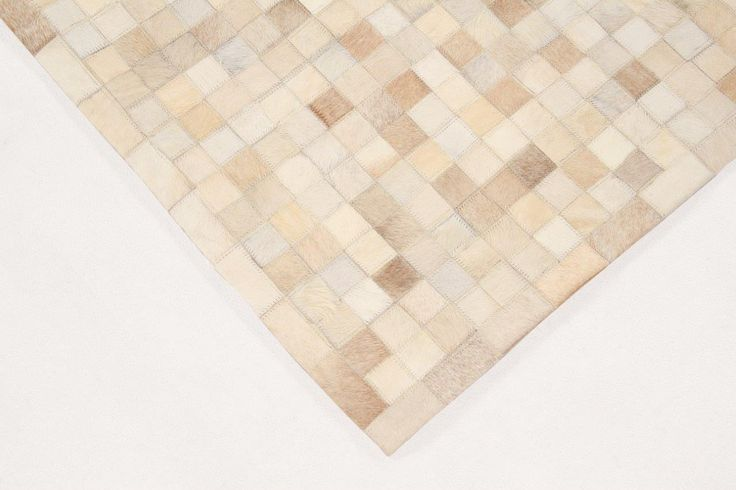 LEATHER PATCHWORK MOSAIC RUG - Brand News 2017 in hairon with patchwork technique, minimum thickness no pile