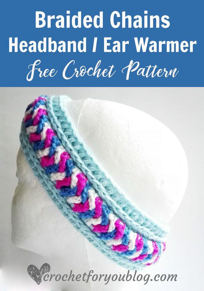 Free Crochet Braided Chains Headband / Ear Warmer Pattern | crochet ...