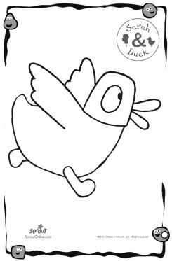 sarah and duck coloring pages - photo#13
