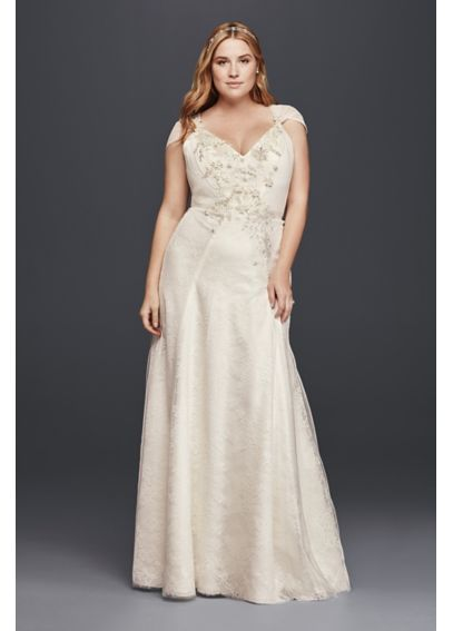 565 best plus size wedding dresses images on pinterest for Plus size sheath wedding dress