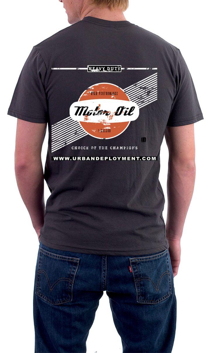 T shirt design vancouver wa - Vintage Motor Oil